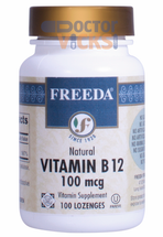 Freeda Vitamins - Vitamin B12 100 mcg - as Cyanocobalamin - 100 Lozenges - © DoctorVicks.com