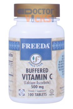Freeda Vitamins - Buffered Vitamin C - 500 mg - 100 Tablets - © DoctorVicks.com