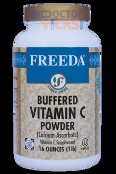 Freeda Vitamins - Buffered Vitamin C Powder - 814 mg - 16 oz Powder - © DoctorVicks.com