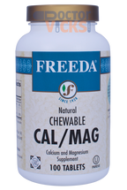 Freeda Vitamins - Chewable Cal-Mag - Calcium & Magnesium - 100 Tablets - © DoctorVicks.com