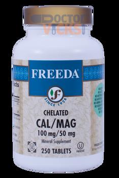 Freeda Vitamins - Chelated Cal-Mag - Calcium & Magnesium - 250 Tablets - © DoctorVicks.com