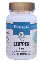 Freeda Vitamins - Copper Gluconate 2 mg - 100 Tablets - © DoctorVicks.com