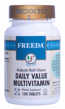 Freeda Vitamins - Daily Value Multivitamin - No Minerals - 100 Tablets - © DoctorVicks.com