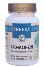 Freeda Vitamins - Cro-Man-Zin - Chromium, Manganese & Zinc - 100 Tablets - © DoctorVicks.com