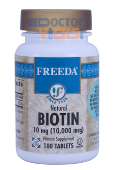 Freeda Vitamins - Biotin 10 mg - 100 Tablets - © DoctorVicks.com