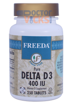 Freeda Vitamins - Delta Vitamin D3 400 IU - 250 Tablets - © DoctorVicks.com
