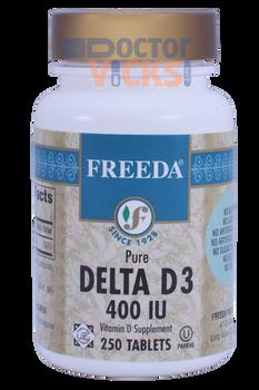 Freeda Vitamins - Delta Vitamin D3 400 IU - 250 Tablets - © DoctorVicks.com