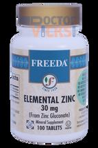 Freeda Vitamins - Elemental Zinc 30 mg - 100 Tablets - © DoctorVicks.com