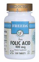 Freeda Vitamins - Folic Acid 400 mcg - 100 Tablets - © DoctorVicks.com
