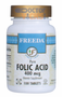 Freeda Vitamins - Folic Acid 400 mcg - 100 Tablets - © DoctorVicks.com