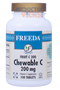 Freeda Vitamins - Chewable Fruit C 200 mg - Orange Flavor - 100 Chewies - © DoctorVicks.com