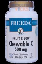 Freeda Vitamins - Chewable Fruit C 500 mg - Orange Flavor - 100 Chewies - © DoctorVicks.com