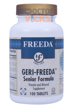 Freeda Vitamins - Geri-Freeda - Senior Multivitamin & Mineral Formula - 100 Tablets - © DoctorVicks.com