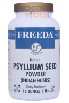 Freeda Vitamins - Psyllium Seed Powder (Indian Husks Fiber) - Digestive Formula - 16 oz Powder - © DoctorVicks.com