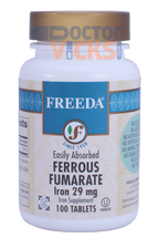 Freeda Vitamins - Iron as Ferrous Fumarate 29 mg - 100 Tablets - © DoctorVicks.com