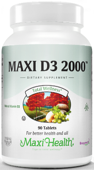 Maxi Health - Maxi Vitamin D3 2000 IU - 90/180 Tablets - DoctorVicks.com