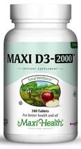 Maxi Health - Maxi Vitamin D3 2000 IU - 90/180 Tablets - DoctorVicks.com