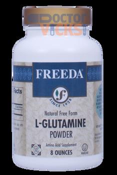 Freeda Vitamins - L-Glutamine Powder 1000 mg - 8 oz Powder - © DoctorVicks.com