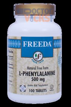 Freeda Vitamins - L-Phenylalanine 500 mg - 100 Tablets - © DoctorVicks.com