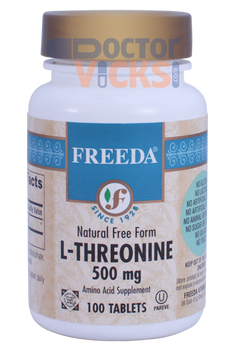 Freeda Vitamins - L-Threonine 500 mg - 100 Tablets - © DoctorVicks.com