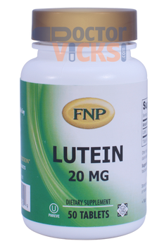 Freeda Vitamins - FNP - Lutein 20 mg - 50 Tablets - © DoctorVicks.com