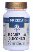Freeda Vitamins - Magnesium Gluconate 110 mg - 100 Tablets - © DoctorVicks.com