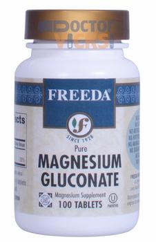Freeda Vitamins - Magnesium Gluconate 110 mg - 100 Tablets - © DoctorVicks.com