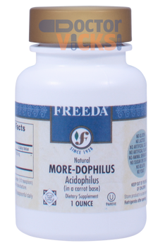 Freeda Vitamins - More-Dophilus - 12.4 Billion Live & Active CFUs - 1 oz Powder - © DoctorVicks.com