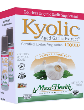 Maxi Health Kosher - Liquid Kyolic Aged Garlic Extract - Twin Pack - 4 oz - Package - DoctorVicks.com