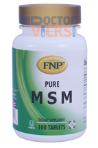 Freeda Vitamins - FNP - MSM 1000 mg - 100 Tablets - New Bottle - © DoctorVicks.com