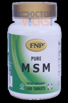 Freeda Vitamins - FNP - MSM 1000 mg - 100 Tablets - New Bottle - © DoctorVicks.com