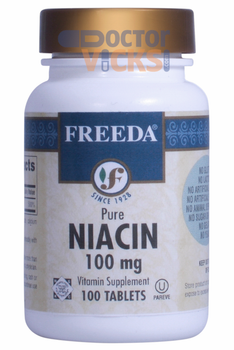 Freeda Vitamins - Niacin (B3) 100 mg - 100 Tablets - © DoctorVicks.com