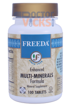 Freeda Vitamins - Enhanced Multi-Minerals - 100 Tablets - Angle One - © DoctorVicks.com