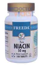 Freeda Vitamins - Niacin (B3) 50 mg - 100 Tablets - © DoctorVicks.com