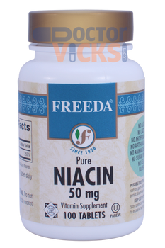 Freeda Vitamins - Niacin (B3) 50 mg - 100 Tablets - © DoctorVicks.com