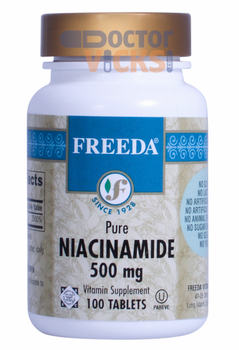 Freeda Vitamins - Niacinamide (B3) 500 mg - 100 Tablets - © DoctorVicks.com