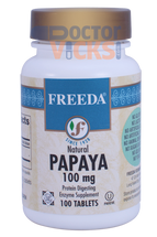 Freeda Vitamins - Papaya 300 mg - 100 Tablets - © DoctorVicks.com