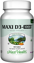 Maxi Health - Maxi Vitamin D3 1000 IU - 90/180 Tablets - DoctorVicks.com