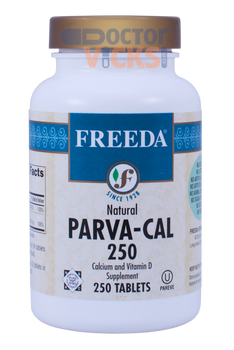 Freeda Vitamins - Parva-Cal 250 With Vitamin D2 - 250 Tablets - © DoctorVicks.com