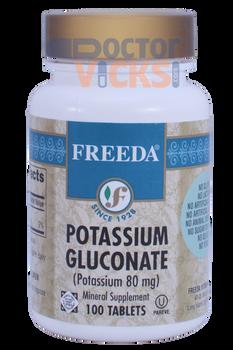 Freeda Vitamins - Potassium Gluconate 80 mg - 100 Tablets - © DoctorVicks.com