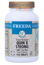 Freeda Vitamins - Quin B Strong - B Complex With Vitamin C & Zinc - 100 Tablets - © DoctorVicks.com