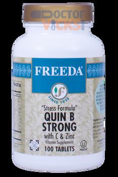 Freeda Vitamins - Quin B Strong - B Complex With Vitamin C & Zinc - 100 Tablets - © DoctorVicks.com