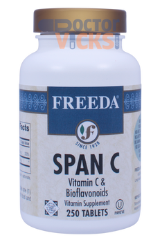 Freeda Vitamins - Span C - Vitamin C & Bioflavonoids - 250 Tablets - © DoctorVicks.com