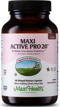 Maxi Health - Maxi Active Pro-20 - 20 Billion Live & Active CFUs - 30/60 MaxiCaps - DoctorVicks.com