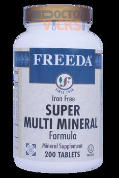 Freeda Vitamins - Super Multi-Minerals No Iron - 200 Tablets - © DoctorVicks.com