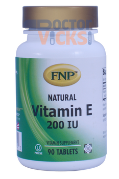 Freeda Vitamins - FNP - Vitamin E 200 IU - 90 Tablets - © DoctorVicks.com