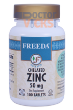 Freeda Vitamins - Chelated Zinc 50 mg - 100 Tablets - © DoctorVicks.com