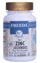 Freeda Vitamins - Zinc Lozenges (Zinc Gluconate) 30 mg - Orange Flavor - 25 Lozenges - © DoctorVicks.com
