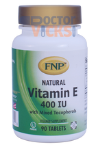 Freeda Vitamins - FNP - Vitamin E 400 IU With Mixed Tocopherols - 90 Tablets - © DoctorVicks.com