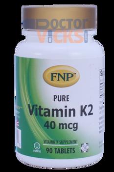 Freeda Vitamins - FNP - Vitamin K2 40 mcg - 90 Tablets - © DoctorVicks.com